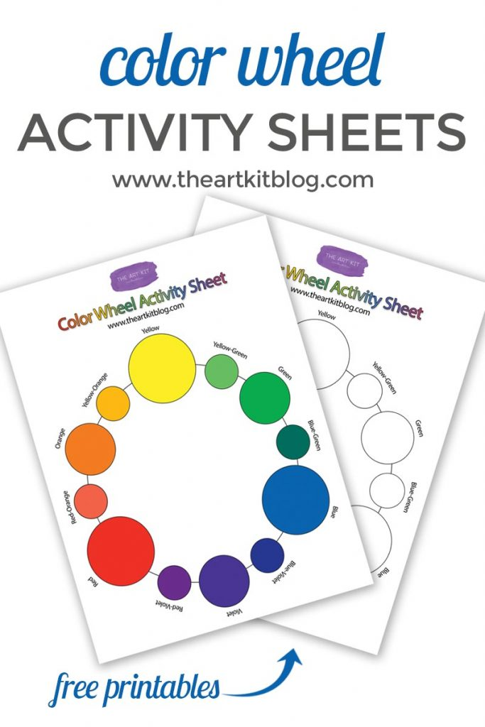 Free Color Wheel Activity Sheet Printables from www.theartkitblog.com @theartkit