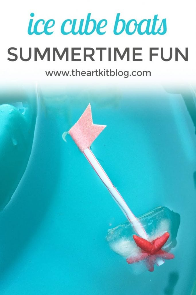 Ice CUBE BOATS Summer Kids Activity by The Art Kit Blog