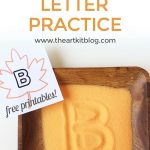 Salt Tray for Letter Writing Practice {With FREE Printables} – Fall Themed