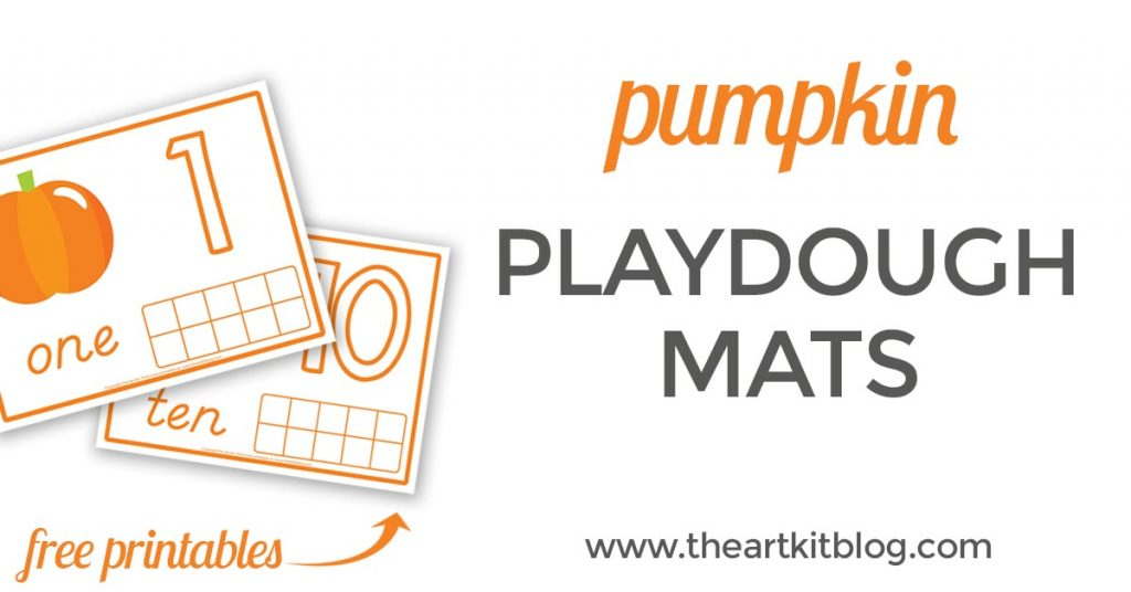 Pumpkin playdough mats for number practice free printables from @theartkit from www.theartkitblog.com