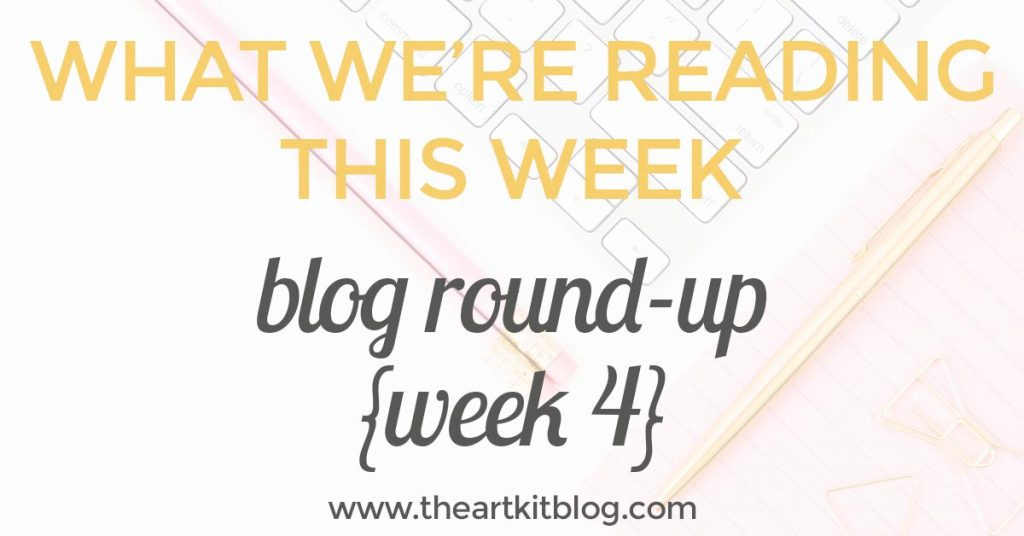 What we're reading this week: blog round-up week 4. Click through to read more @theartkit www.theartkitblog.com