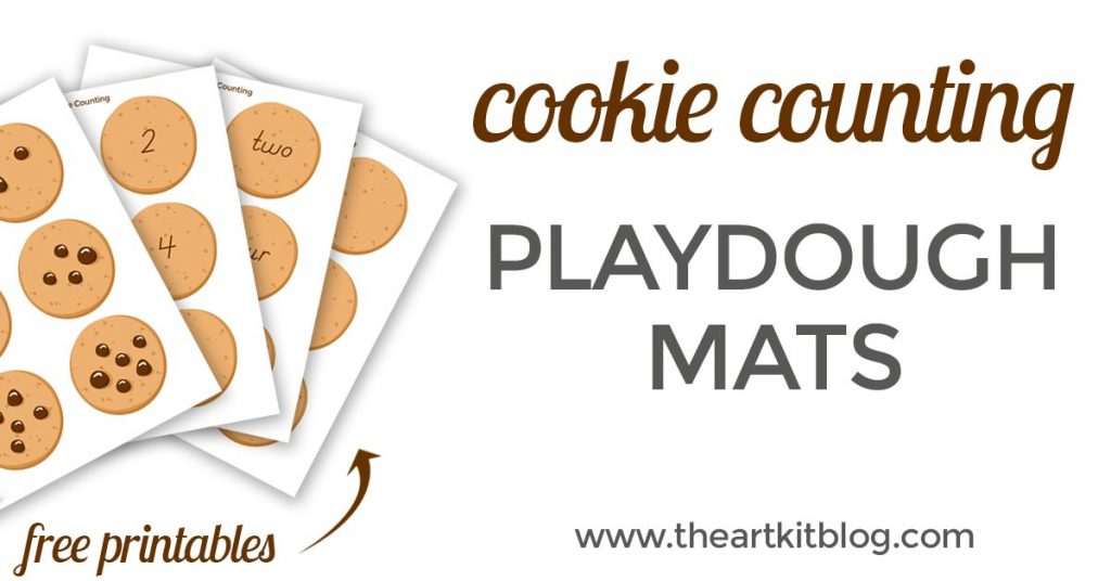 Chocolate chip cookie fun inspired by the classic book if you give a mouse a cookie. Playdough mat for counting fun at @theartkit www.theartkitblog.com