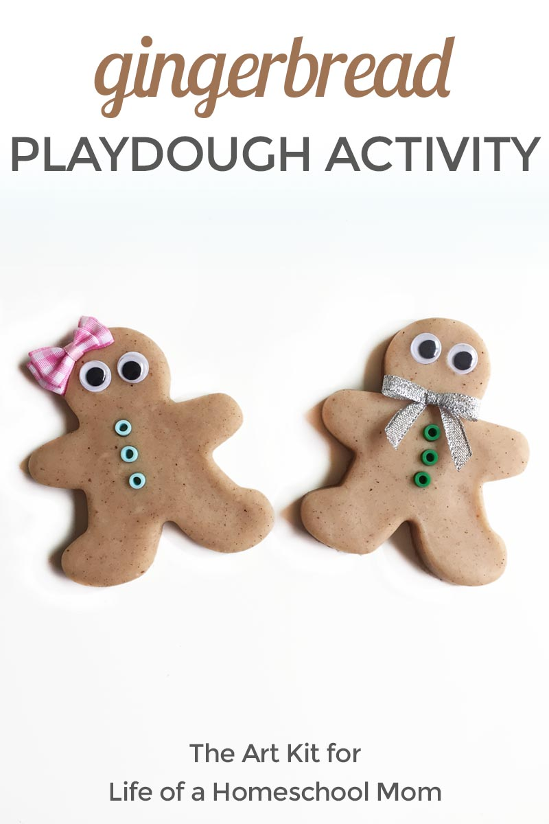 G is for Gingerbread Playdough Invitation to Play