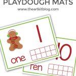 Gingerbread Boy Playdough Mats – Fun Counting Activity {FREE Printables!}