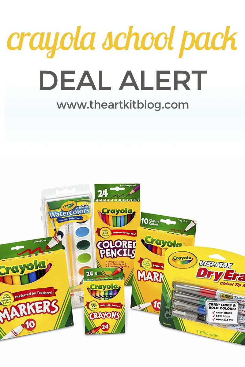 CRAYOLA SCHOOL PACK DEAL ALERT