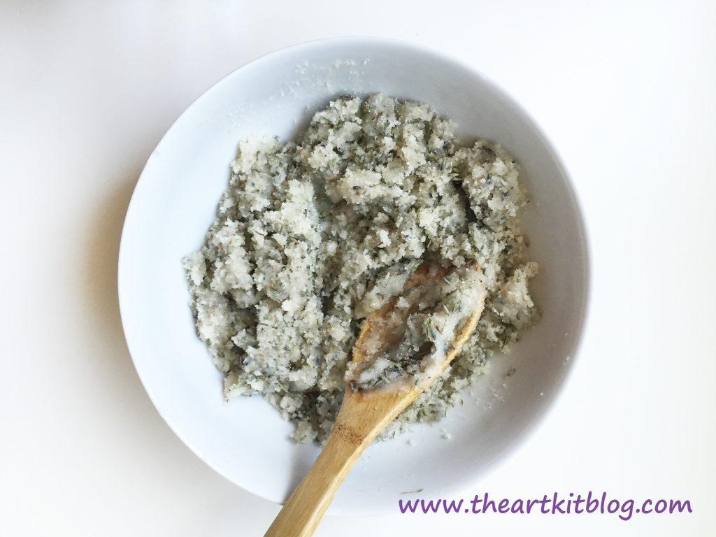Lavender Sugar Body Scrub by The Art Kit Blog, Visit the Blog Today or Pin for Later