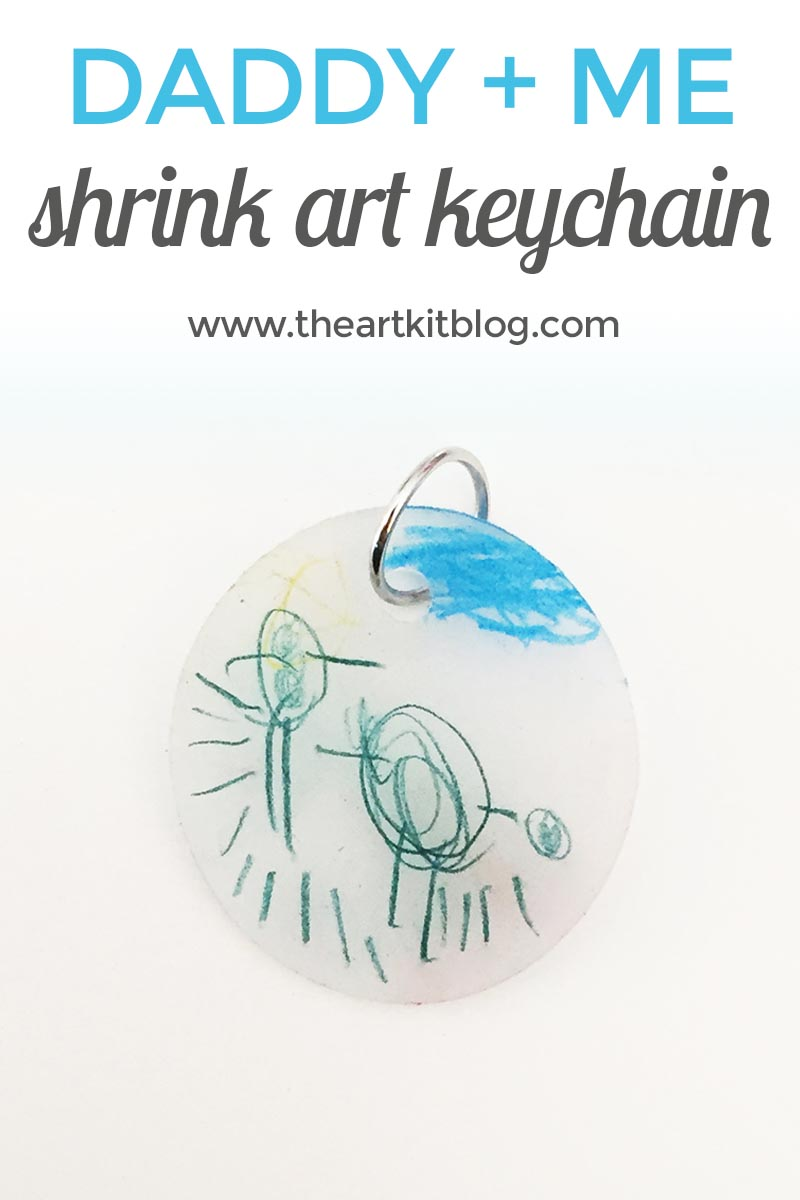 Daddy and Me {Shrink Art Keychain}