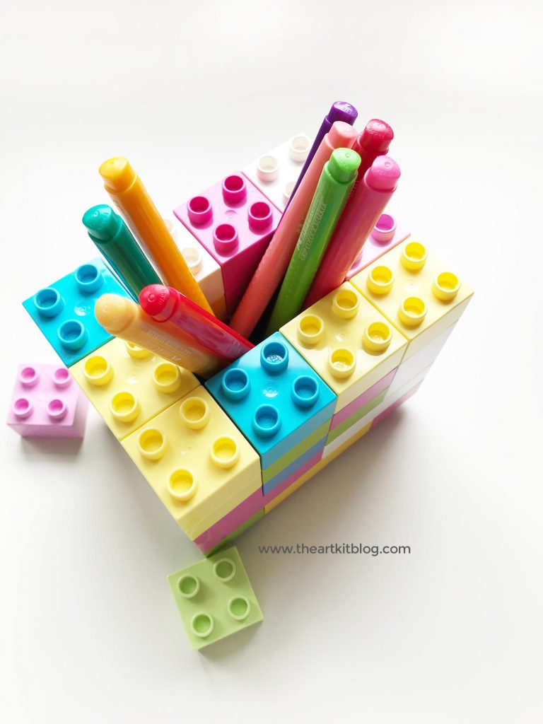 duplo lego pencil holder activity easy for kids the art kit pinterest 2