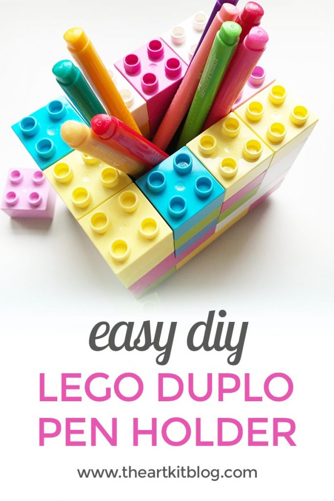 duplo lego pencil holder activity easy for kids the art kit pinterest