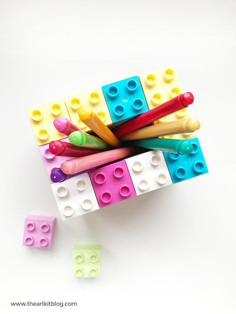 duplo lego pencil holder activity easy for kids the art kit pinterest 8