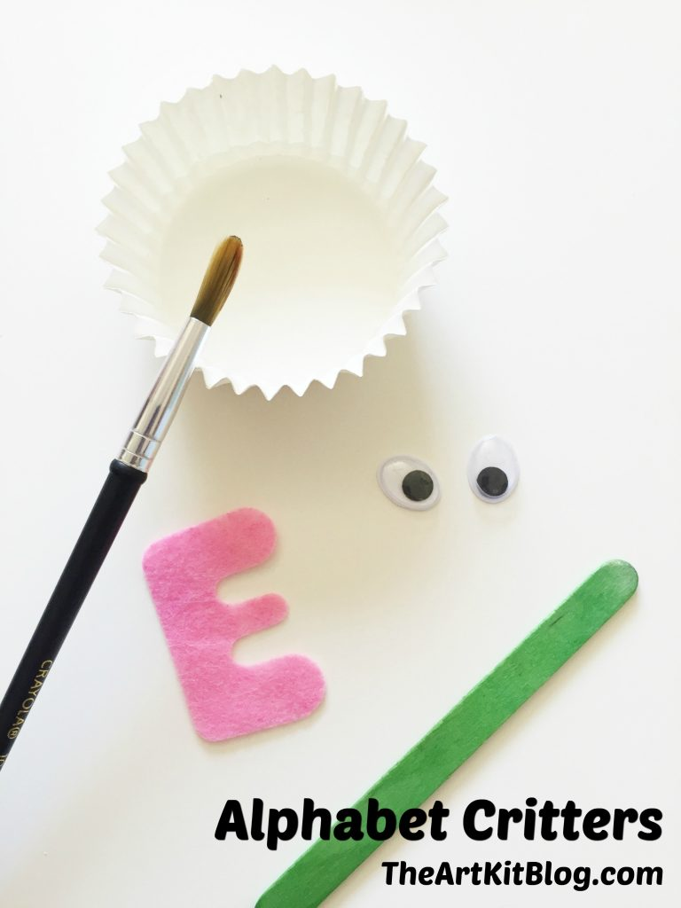 Alphabet critters {fun and educational craft}