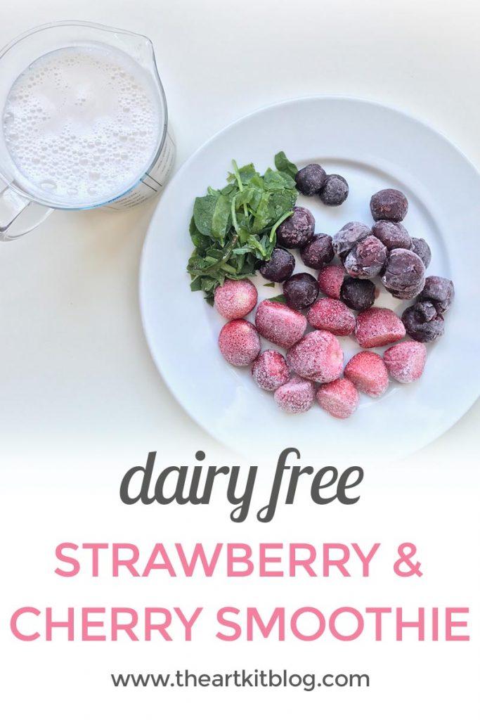 strawberry cherry smoothie glass straw strawesome the art kit PINTEREST
