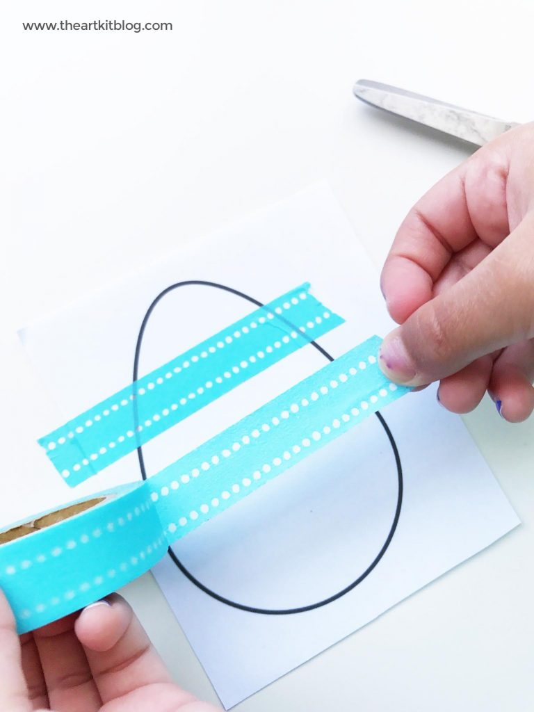 Washi tape easter egg paper craft from the art kit