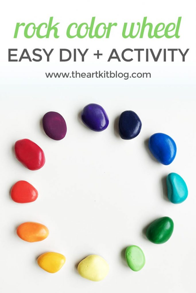 Color wheel rocks painting rocks art for kids from @theartkit