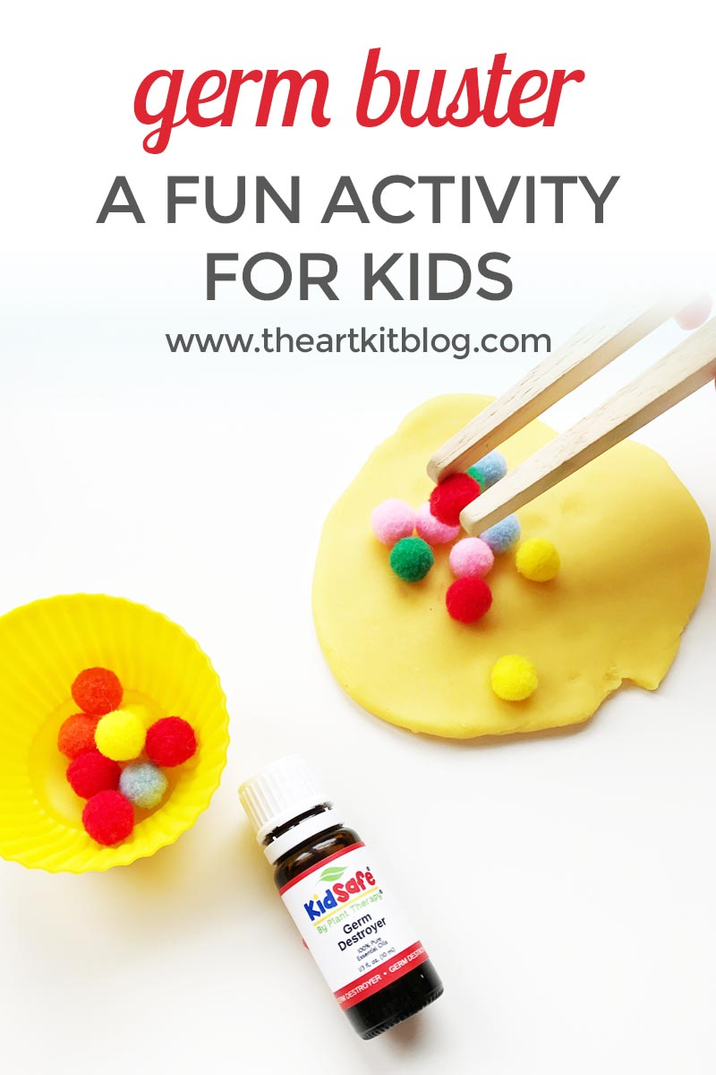 Germ Destroyer Plant Therapy Oils and Pom Poms Activity for Kids About Germs from @theartkit
