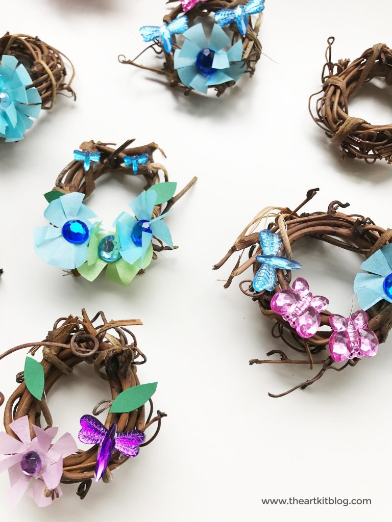 How to make mini wreaths diy craft from @theartkit The Art Kit
