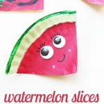 Paper Plate Watermelon Craft for Kids