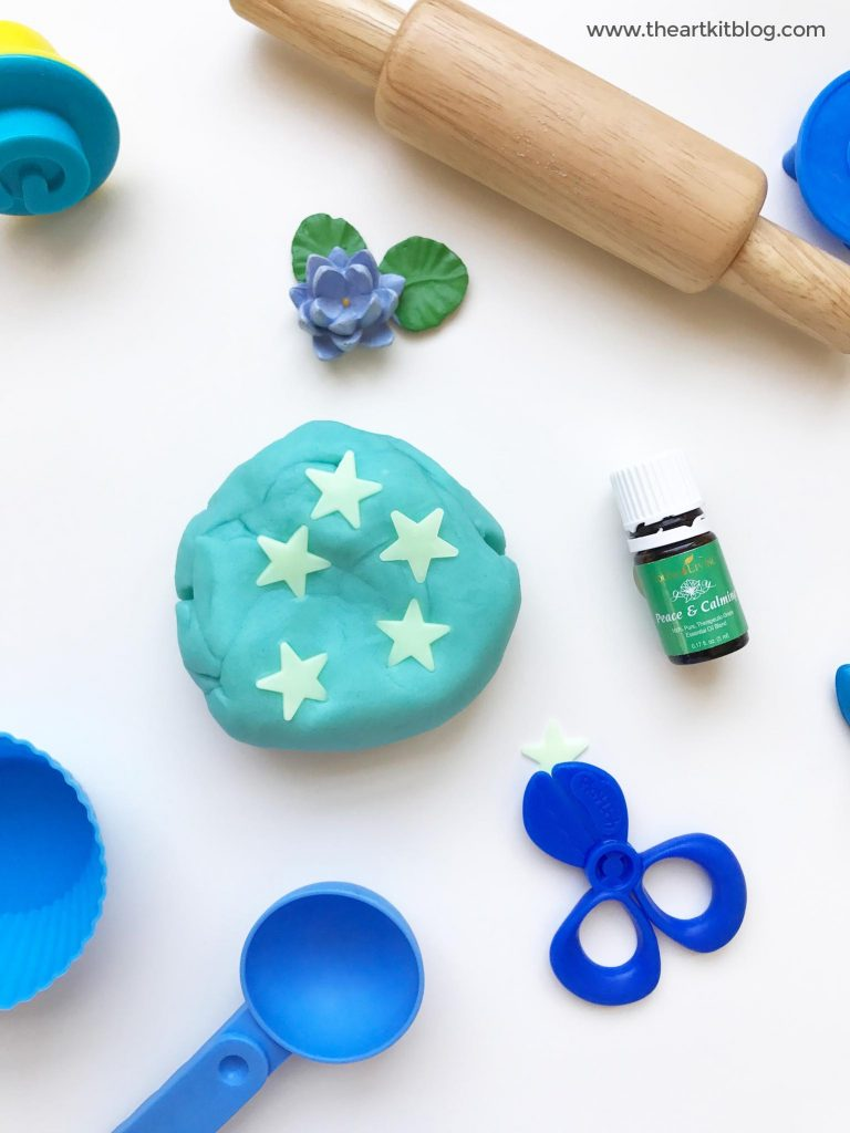 peace and calming young living essential oil playdough recipe the art kit pinterest