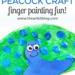Coffee Filter Craft – Peacocks {Fingerprint Painting Fun}