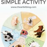 Farm Animals Simple Matching Activity for Kids