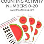 Watermelon Seed Counting Activity for Kids {FREE Printables}