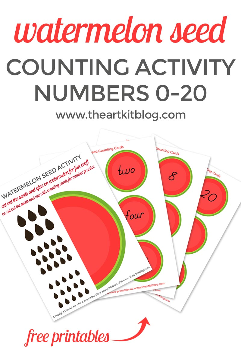 Watermelon Seed Counting Activity For Kids The