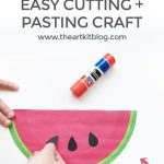 Watermelon Slices – Easy Cutting and Pasting Paper Craft for Kids {Free Printables}