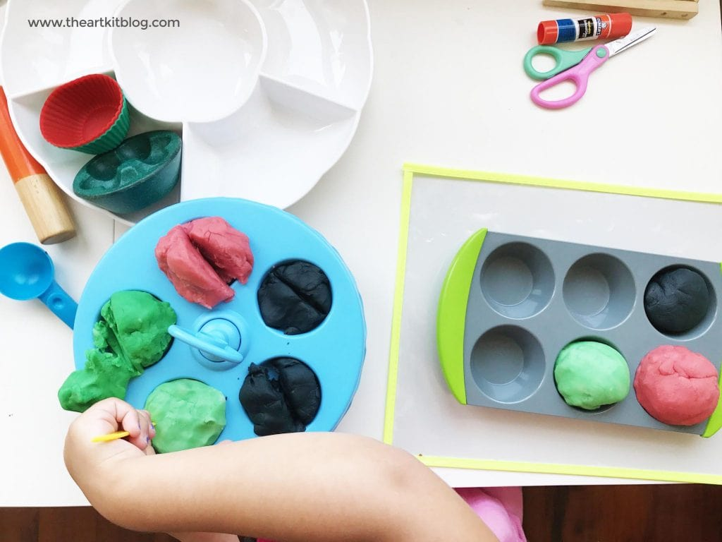 Watermelon Playdough Recipe and Activity for Kids from @theartkit