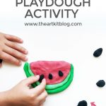 Watermelon Playdough Activity for Kids {Recipe Included}