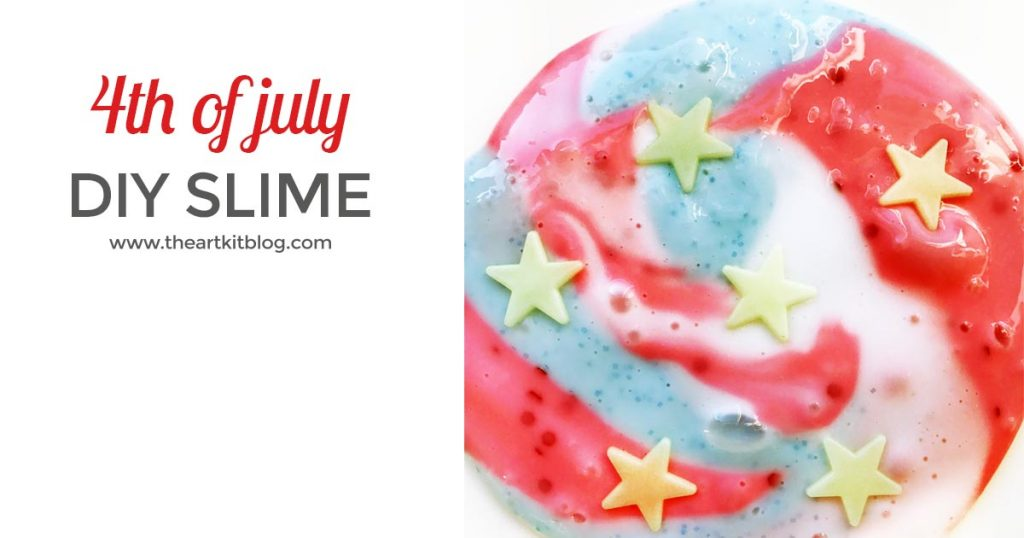 How to Make Patriotic Slime  This patriotic slime is perfect for your 4th of July festivities or any patriotic holiday, really. Whether you are having a party and are looking for a fun activity to keep the kids busy, or you are just looking for a fun summertime activity for the kids, this is the perfect sensory activity to keep the kids entertained.