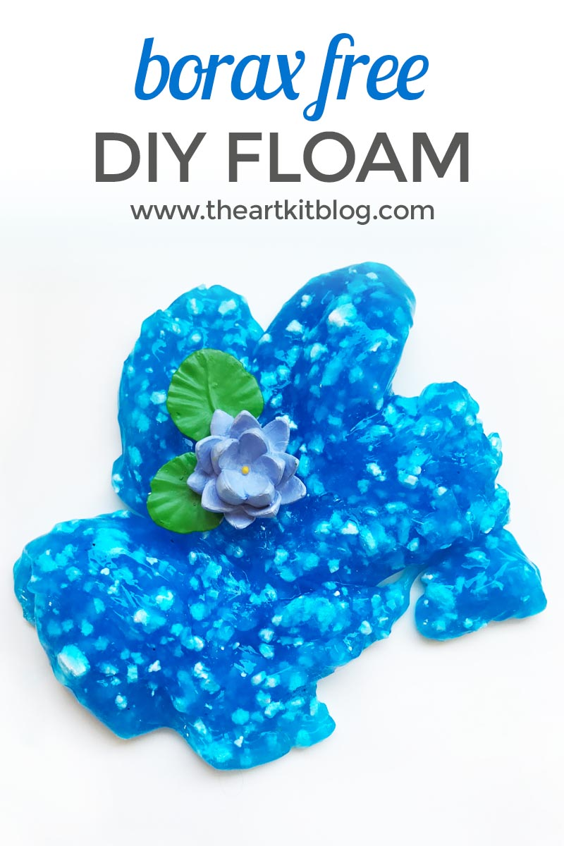 Floam recipe without borax from www.theartkitblog.com @theartkit