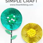 Cupcake Liner Flower Craft for Kids