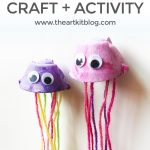 Egg Carton Jellyfish Puppets – Easy and Fun Painting Craft for Kids