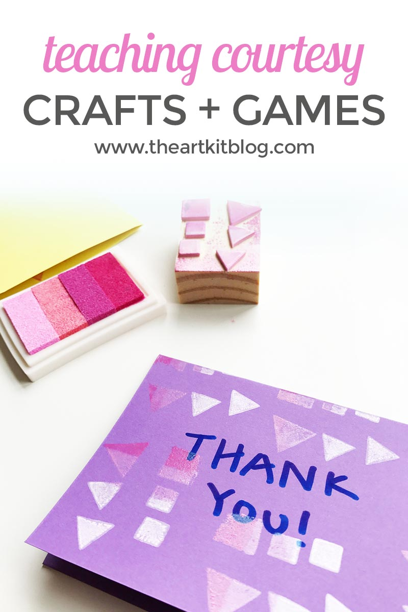 Teaching courtesy with crafts and games through happy heart kid the art kit blog