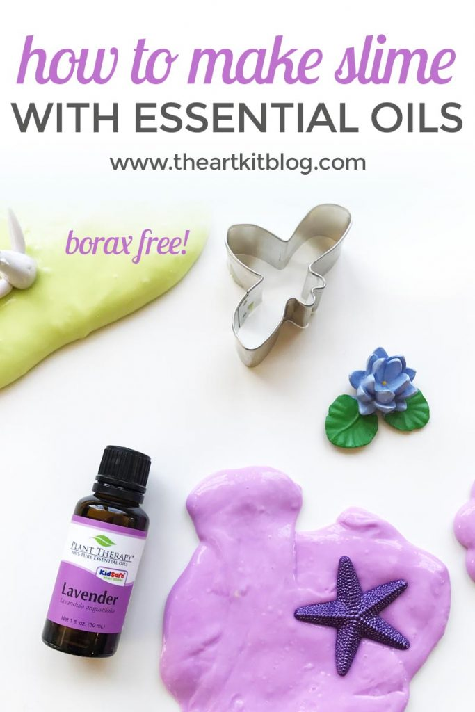 How to make slime without borax (with lavender essential oil)