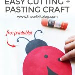 Ladybug Cutting and Pasting Activity for Kids {Free Printable Included}