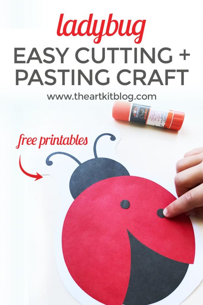 graphic relating to Printable Arts and Crafts identify Ladybug Chopping and Pasting Sport for Little ones Cost-free