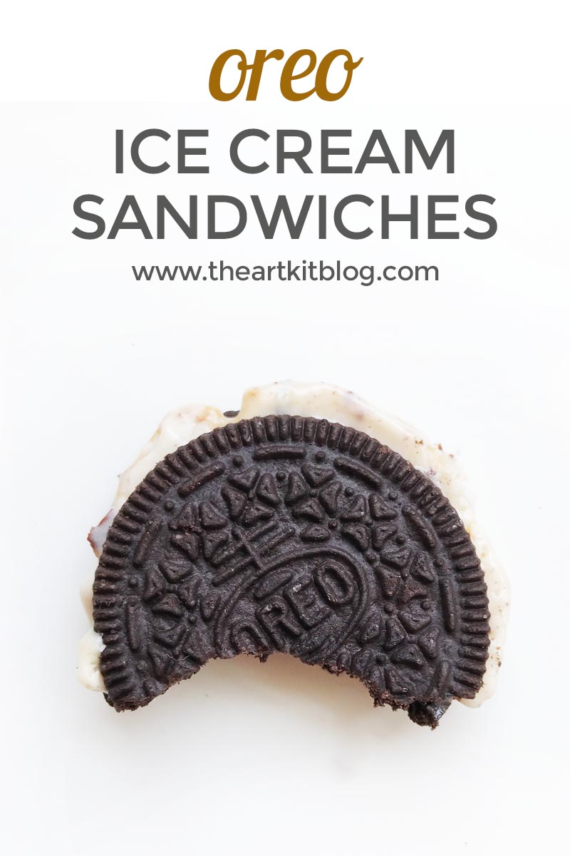 How to Make Ice Cream Sandwiches from Oreo Cookies