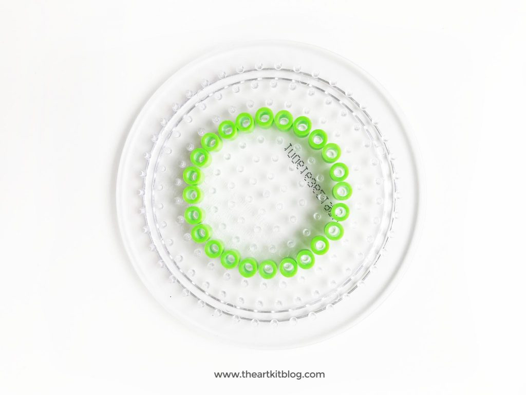 Perler bead dreamcatcher craft activity diy for kids