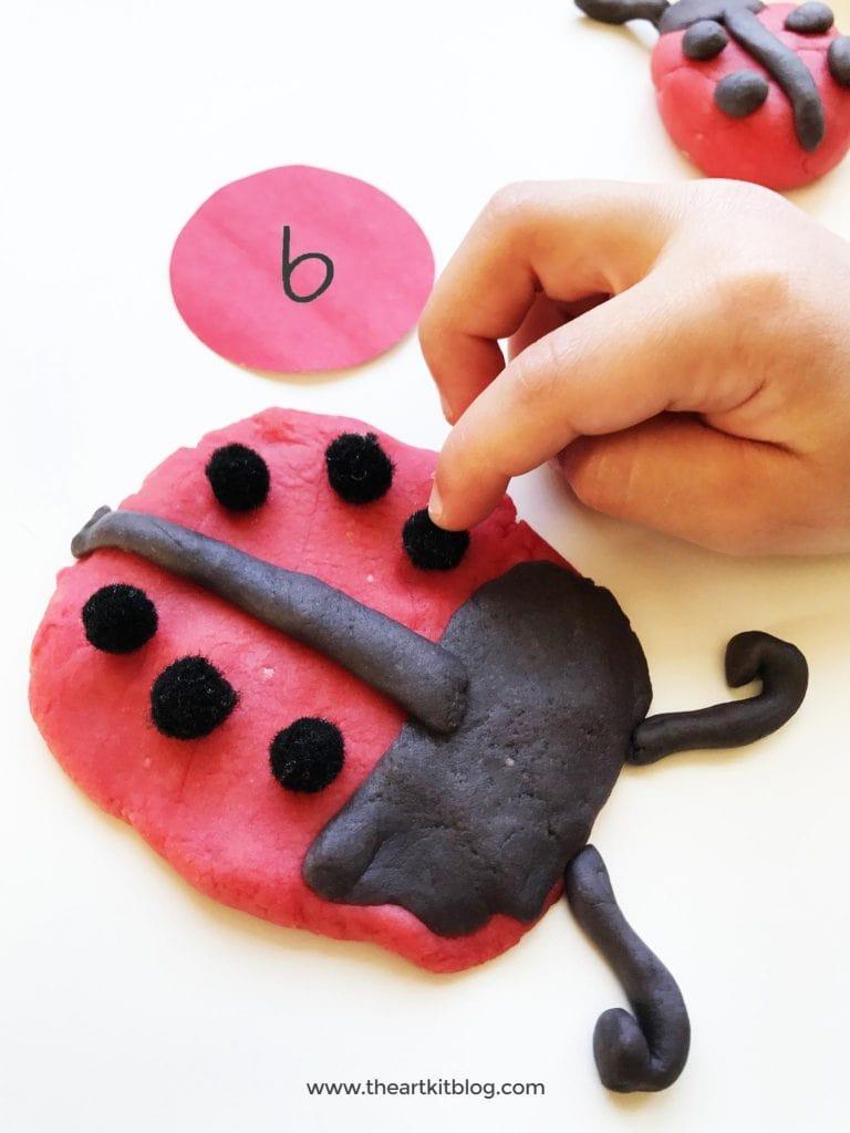 playdough activities ladybug counting nature playdough recipe the art kit blog