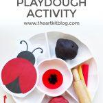 Ladybug Themed Playdough Activity {Playdough Recipe Included}