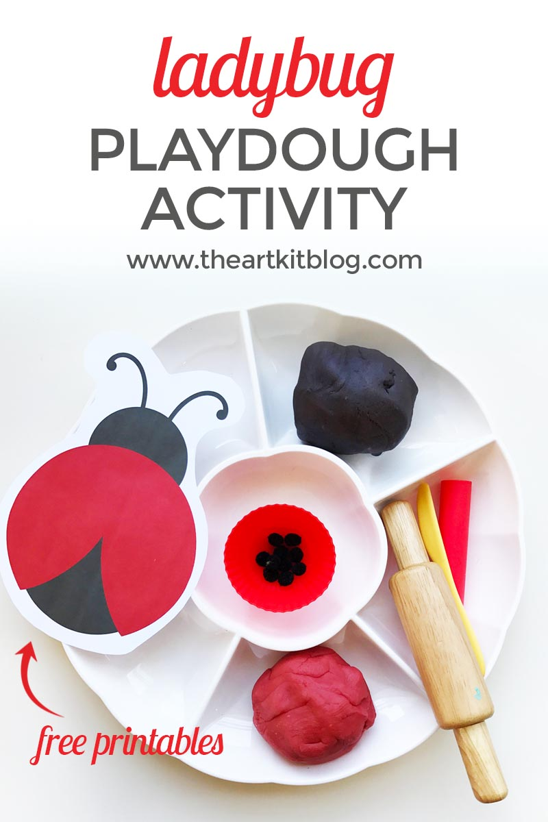 playdough activities ladybug counting playdough recipe the art kit blog PINTEREST