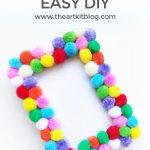 Easy DIY Pom Pom Picture Frame