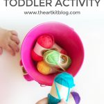 Yarn Transfer Toddler Activity