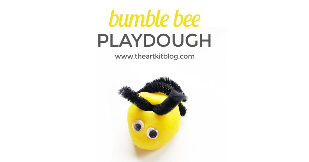 Bumble bee playdough recipe and activity for kids