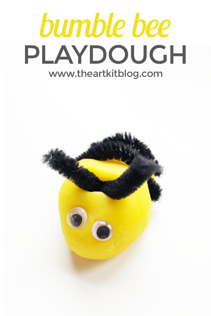 Bumble Bee Playdough Activity for Kids + Our Favorite Bee Book
