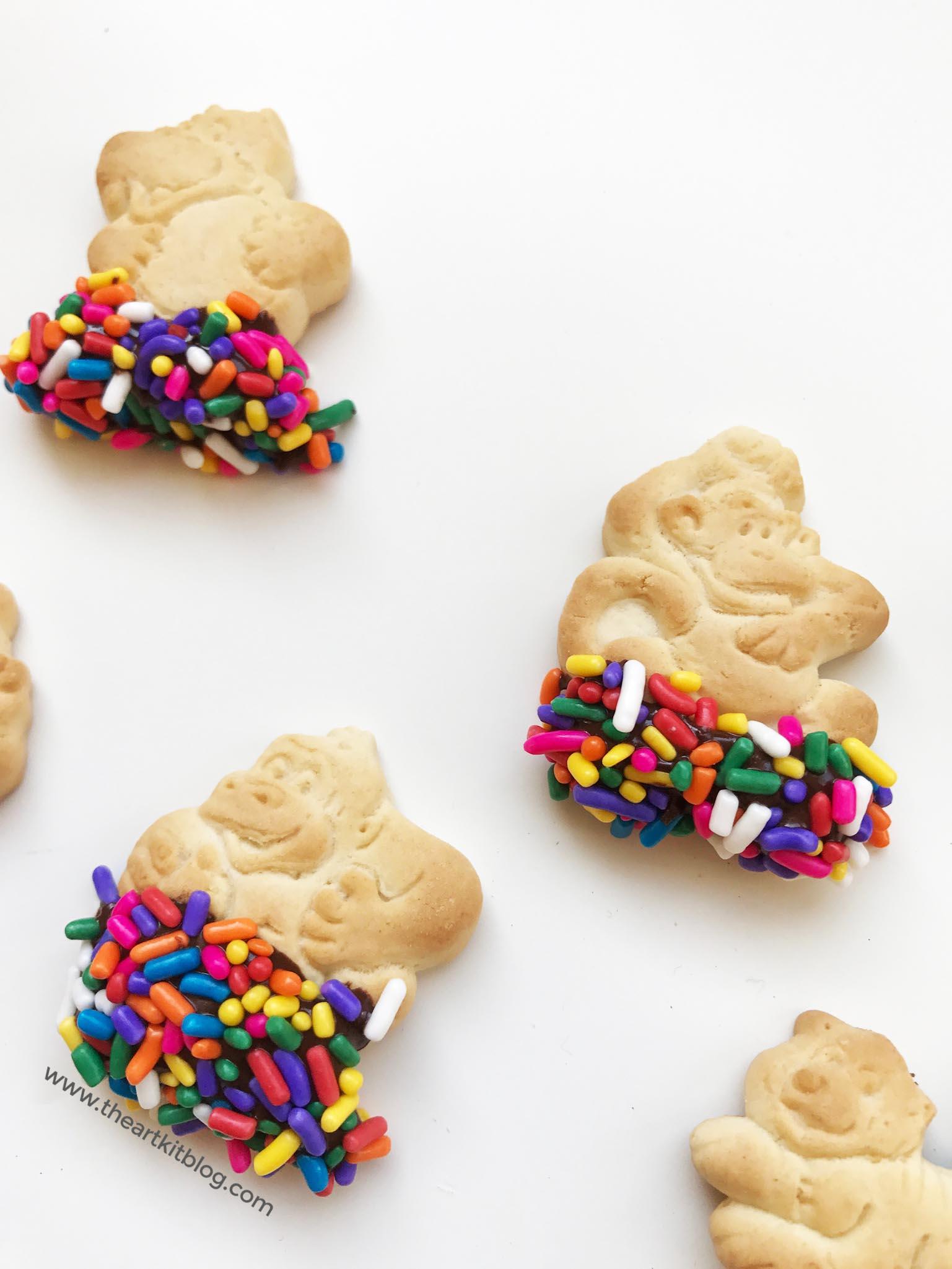 chocolate dipped animal crackers sprinkles cookies costco