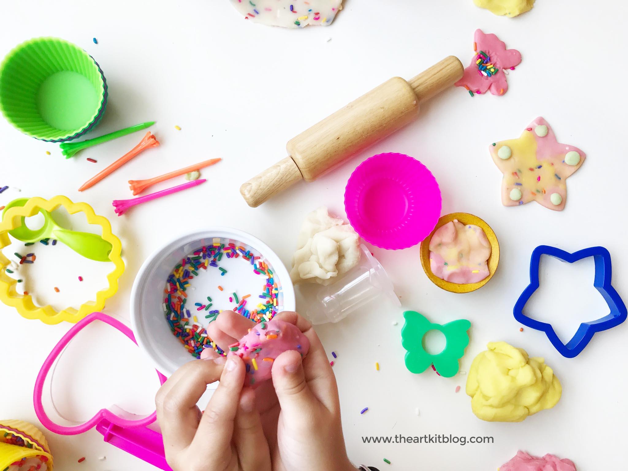 Homemade Playdough With Sprinkles Birthday Party The Art Kit Blog