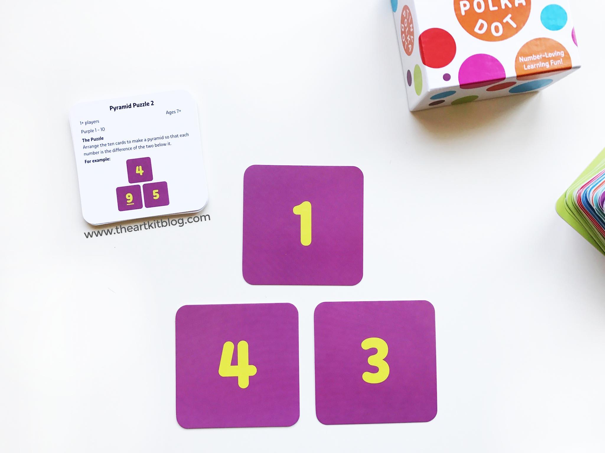 tiny polka dot game timberdoodle math game kids - The Art Kit