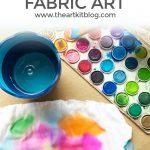 Watercolor Paint Fabric Art
